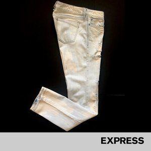 Express   Zelda Distressed Acid Blotch Jeans